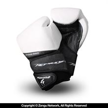 PunchTown Tenebrae Leather Boxing Gloves - White